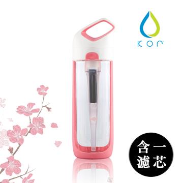KOR NAVA filter 隨身濾水瓶 櫻花粉/ 700ml(內含濾芯*1)