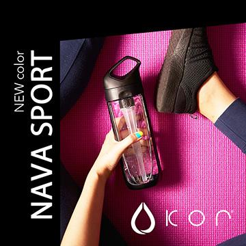 KOR water 水瓶- Nava Sport 650ml-率性黑