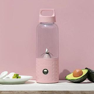 自動果汁隨行杯 USB充電果汁機(粉色)