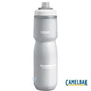【美國CamelBak】CB1872101062 620ml Podium ICE 酷冰保冷噴射水瓶 雪白
