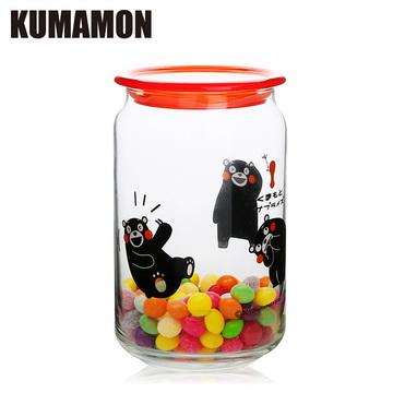 【KUMAMON熊本熊】玻璃收納罐750ml禮盒組