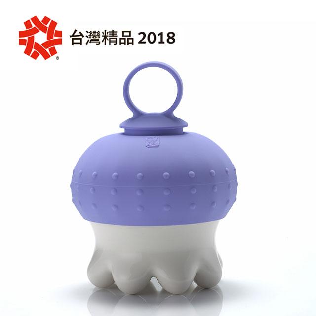 《乾唐軒活瓷》熱波按摩器 / 圓足 / 白 / 紫指環