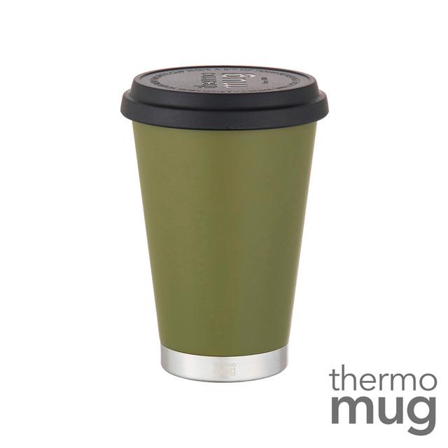 ◤日本人氣最火紅的隨行杯◢Thermo Mug【大口徑保溫隨行杯】森林綠(鈴木太太公司貨)