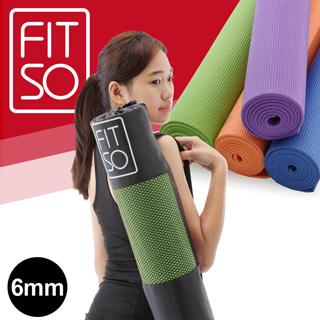 【FIT SO】PVC瑜珈墊6mm(藍/紫/橘/綠)