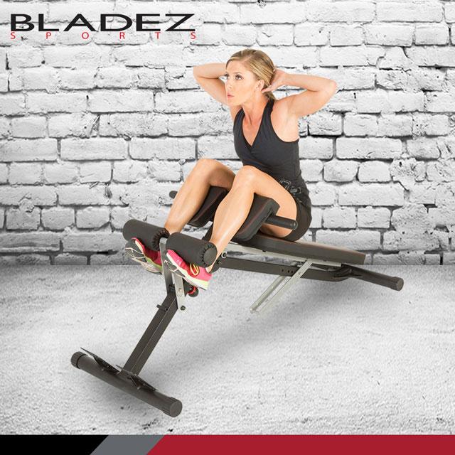 多功能羅馬椅+重訓椅  【BLADEZ】FITNESS REALITY 多功能腹/ 背伸展羅馬重訓椅 F2860