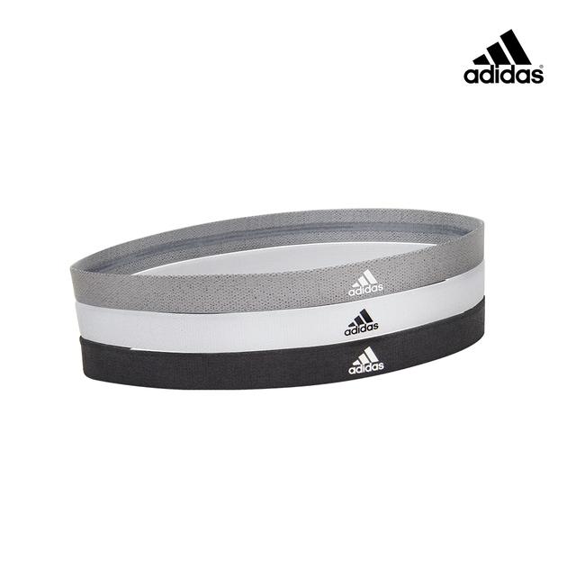 實用與時尚兼具Adidas 止滑運動髮帶組(沉穩黑/簡潔白/內斂灰)