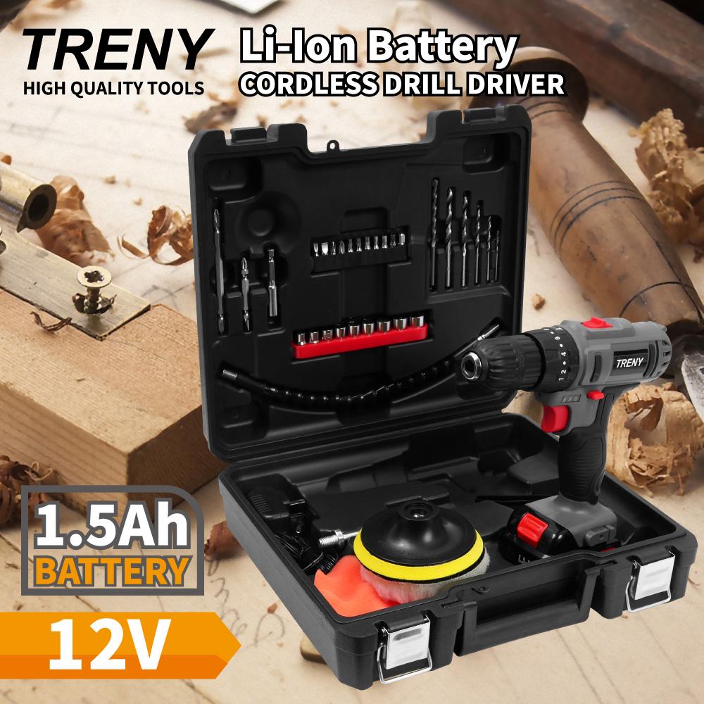 TRENY 12V 鋰電雙速震動起子機