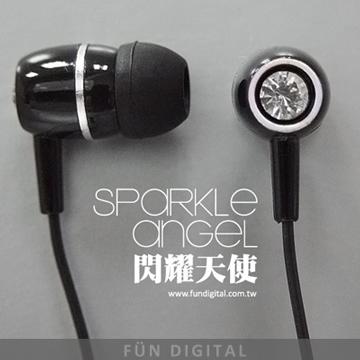FUNDIGITAL 閃耀天使內耳式耳機-黑天使