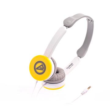CLiPtec Modenz 迷你立體聲耳機(淡鵝黃)