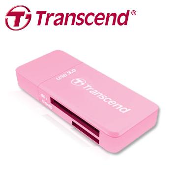 創見RDF5 USB 3.0多功能讀卡機(粉)小巧實用,好卡就要配高速讀卡機