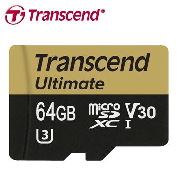 創見 64GB Ultimate microSDXC UHS-I(U3) 記憶卡