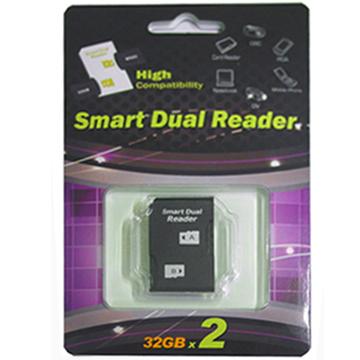 最大支援到32G 適用於PSP 相機雙插槽轉接卡專業版pro duo相機PSP用mircoSD TF轉MS Pro Duo MS雙轉卡 最支援32G