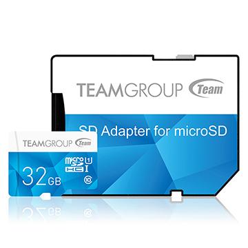 Team 十銓科技 32G MicroSDHC UHS-I 炫彩高速記憶卡(附轉卡)