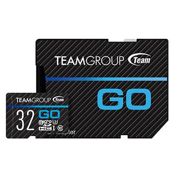 Team 十銓科技 32G MicroSDHC UHS-I U3 Go Card 運動攝影機專用(附轉卡)