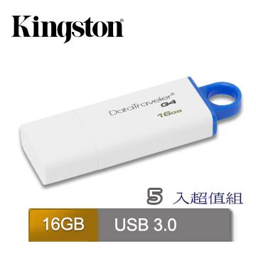 金士頓 DataTravele G4 16GB 隨身碟 (DTIG4/16GB)五入