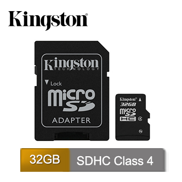 金士頓 Kingston  MicroSDHC C4 32GB 記憶卡 (SDC4/32GB)