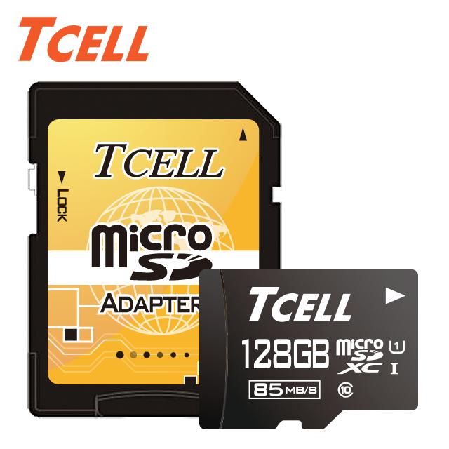 畢業季▼58折起TCELL冠元 MicroSDXC UHS-I 128GB高速記憶卡★升速85MB/s