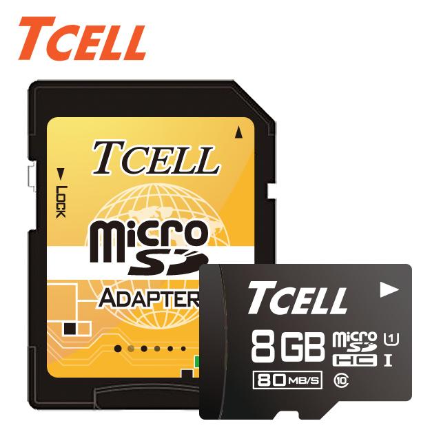 畢業季▼58折起TCELL冠元 MicroSDHC UHS-I 8GB 80MB/s高速記憶卡 Class10★升速80MB/s