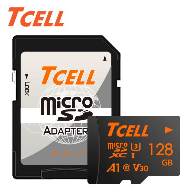 畢業季▼58折起TCELL冠元 MicroSDXC UHS-I(A1) U3 128GB 100/70MB 高速記憶卡