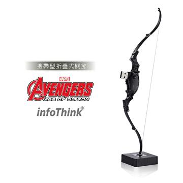 ★攜帶型折疊式關節★InfoThink 復仇者聯盟2鷹眼之弓隨身碟16GB(折疊式關節)