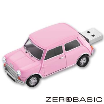 車輪可動.車燈可亮ZEROBASIC Mini Cooper 粉紅16G隨身碟