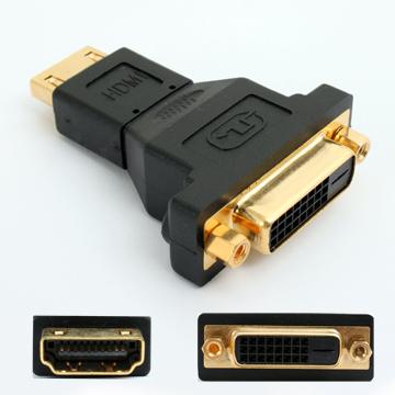 HDMI-19F/DVI-24+1F 轉接頭轉接好幫手