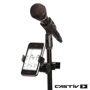 CASTIV Stand Sidekick for Microphone stand手機用麥克風歌譜架