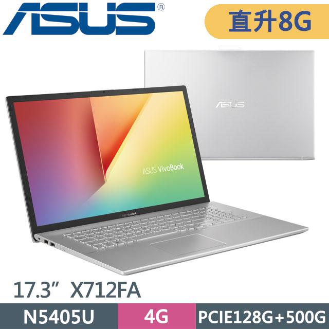 ASUS X712FA-0248S5405U 冰河銀 5405U ∥ 4G+4G ∥ PCIe128G + 500G HDD