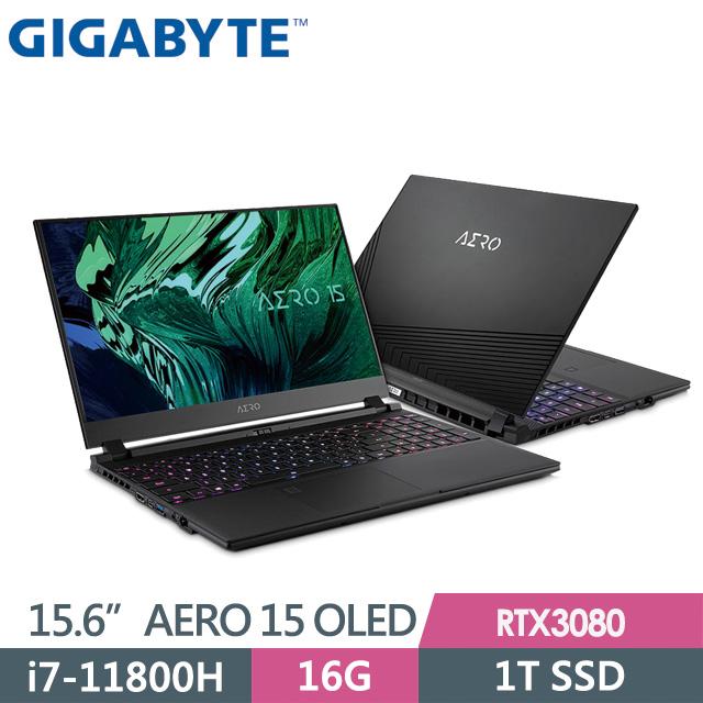 "GIGABYTE AERO 15 OLED YD(i7-11800H/16G/1T SSD/RTX3080 8G/15.6"" UHD/Win10P)電競筆電"