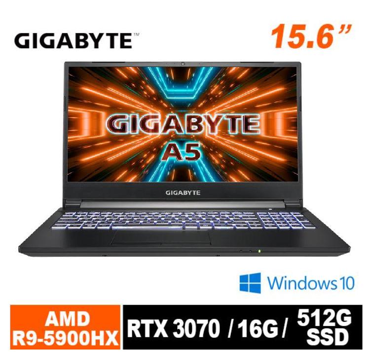 技嘉 A5 X1 電競筆電 (R9 5900HX/RTX3070/240Hz/16G/512G SSD/Win10 Home/FHD/15.6)
