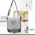 ABS愛貝斯 潮流時尚水洗帆布側背包(06-010) 黑灰