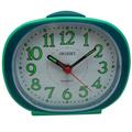 【日本東方ORIENT】AQ214簡約夜光鬧鐘-綠/時尚設計擺飾鬧鐘