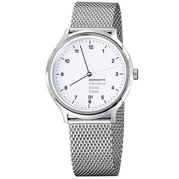 MONDAINE 瑞士國鐵Helvetica 聯名腕錶 - 米蘭帶/40mm