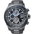 CITIZEN 光動能不鏽鋼三眼計時腕錶 CA0576-59E
