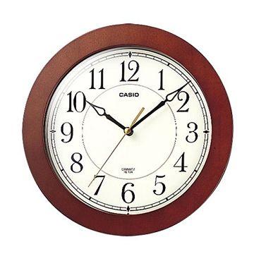 CASIO 簡單大方經典木紋掛鐘