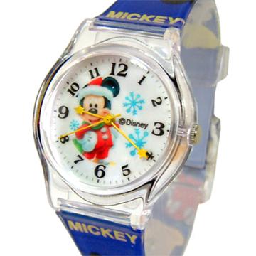 【迪士尼。米奇】歡樂聖誕雪花米奇兒童錶