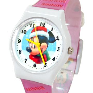 【迪士尼。米妮】 歡樂聖誕俏麗米妮兒童錶