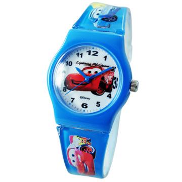 Cars2 世界大賽-閃電麥坤膠錶/卡通錶/兒童錶/中性錶-紅車(中型)