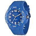 JAGA 捷卡 AQ1080-E 時尚潮流亮彩防水指針錶-藍