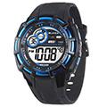 JAGA 捷卡M997-AE 帥氣有勁多功能運動電子錶-黑藍