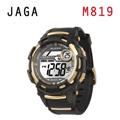 JAGA M819-AL 超越時空悍將多功能電子錶-金