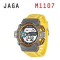 JAGA 捷卡 M1107-KC 鋼鐵戰士 多功能電子錶-黃灰