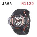 JAGA 捷卡 M1120-AI 超越時空 多功能電子錶-黑橙