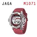 JAGA M1071-GG抗震帥氣多功能電子錶-紅色