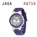 JAGA AQ71-DJ 色彩繽紛夜光防水指針錶-白紫