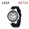 JAGA AQ71-E 色彩繽紛夜光防水指針錶-藍
