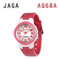 JAGA AQ68-DG 色彩繽紛夜光防水指針錶-白粉