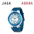 JAGA AQ68-DE 色彩繽紛夜光防水指針錶-白藍