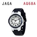 JAGA AQ68-E 色彩繽紛夜光防水指針錶-藍