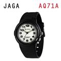 JAGA AQ71-A 色彩繽紛夜光防水指針錶-黑